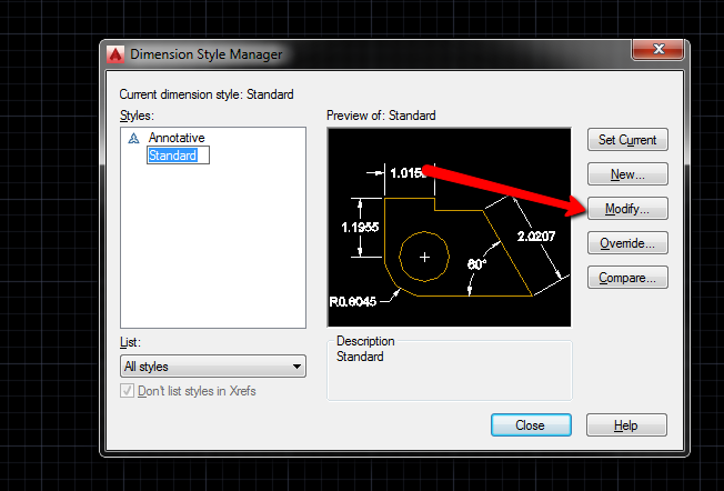 how to change tab style in autocad