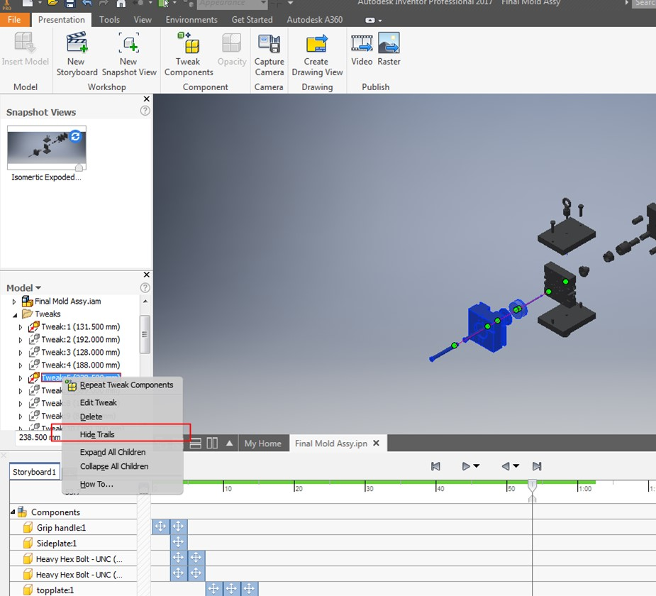 Inventor 2017 Presentation Files – The New Look and Feel